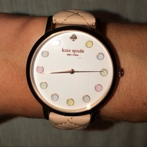 KATE SPADE WATCH with pleated leather band